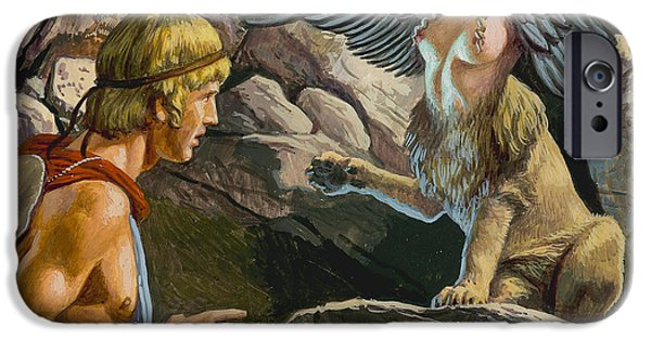 Oedipus Encountering The Sphinx IPhone 6s Case by Roger Payne