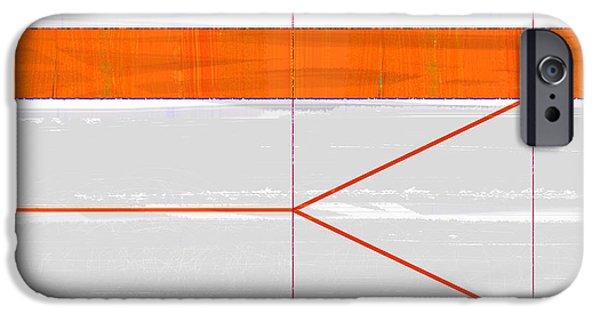 Contemporary iPhone 6s Case - Orange Triangle by Naxart Studio