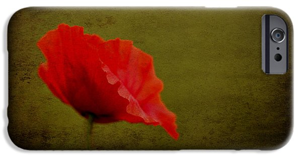 IPhone 6s Case featuring the photograph Solitary Poppy. by Clare Bambers