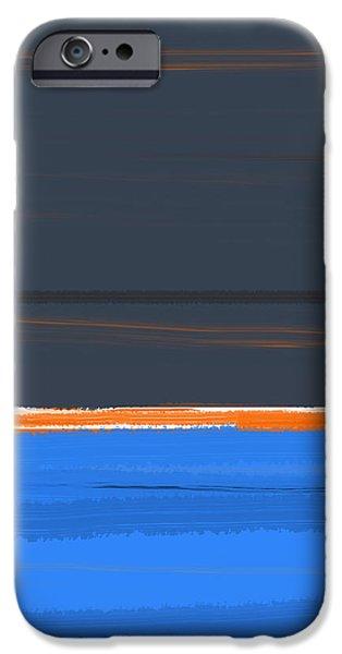 Contemporary iPhone 6s Case - Stripe Orange by Naxart Studio