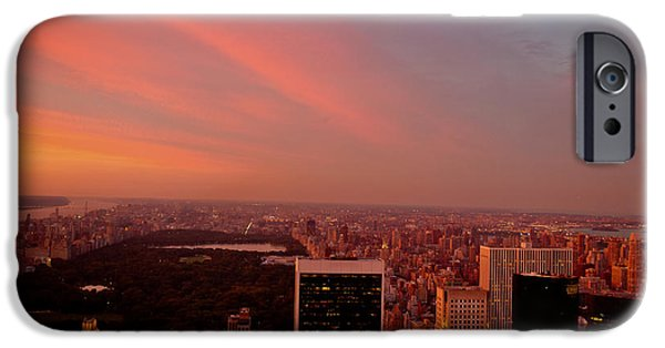 Sunset Over Central Park And The New York City Skyline IPhone 6s Case