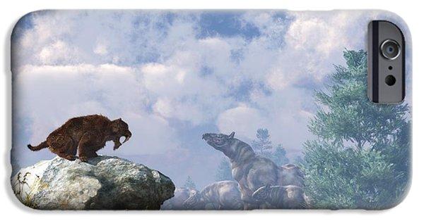 Rhinocerus iPhone 6s Case - The Paraceratherium Migration by Daniel Eskridge