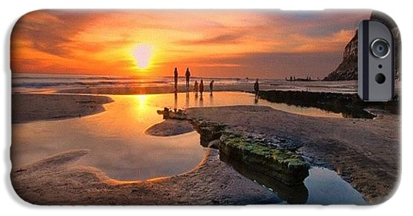 iPhone 6s Case - Ultra Low Tide Sunset At A North San by Larry Marshall
