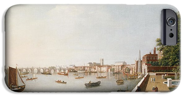 View Of The River Thames From The Adelphi Terrace  IPhone 6s Case by William James