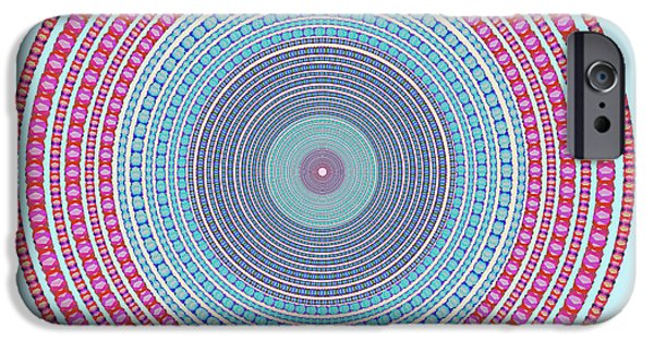 Space iPhone 6s Case - Vintage Color Circle by Atiketta Sangasaeng