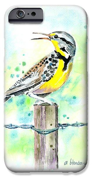 Western Meadowlark IPhone 6s Case by Arline Wagner