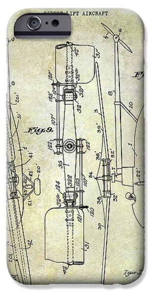 Helicopter iPhone 6s Case - 1935 Helicopter Patent  by Jon Neidert