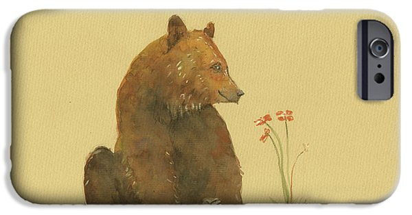 Alaskan Grizzly Bear IPhone 6s Case by Juan Bosco