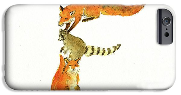 Squirrel iPhone 6s Case - Animal Letter by Juan Bosco