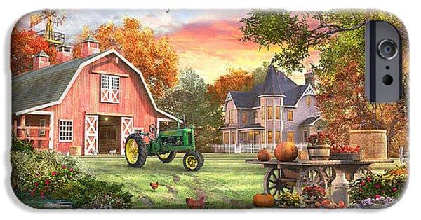 Geese iPhone 6s Case - Autumn Farm by Dominic Davison
