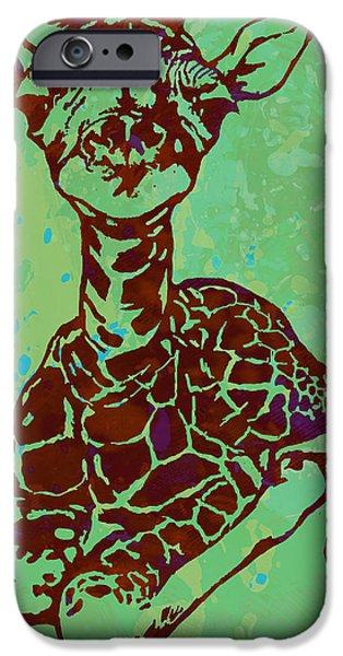 Baby Giraffe - Pop Modern Etching Art Poster IPhone 6s Case