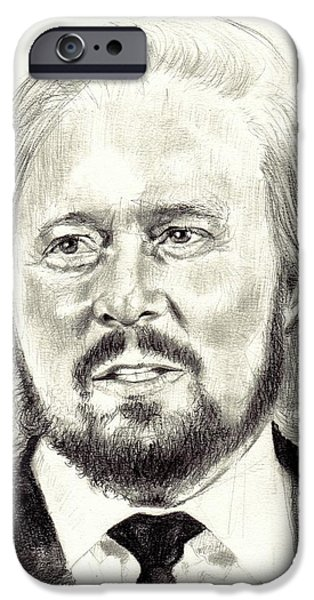 Rolling Stone Magazine iPhone 6s Case - Barry Gibb Portrait by Suzann's Art