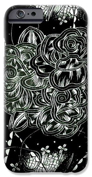 Black Flower IPhone 6s Case