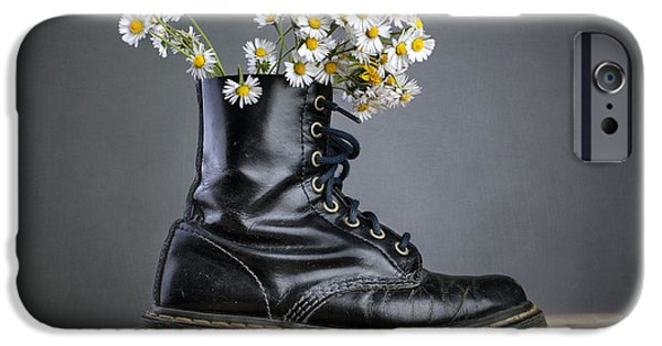 Daisy iPhone 6s Case - Boots With Daisy Flowers by Nailia Schwarz