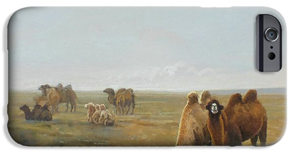 Camels Along The River IPhone 6s Case by Chen Baoyi