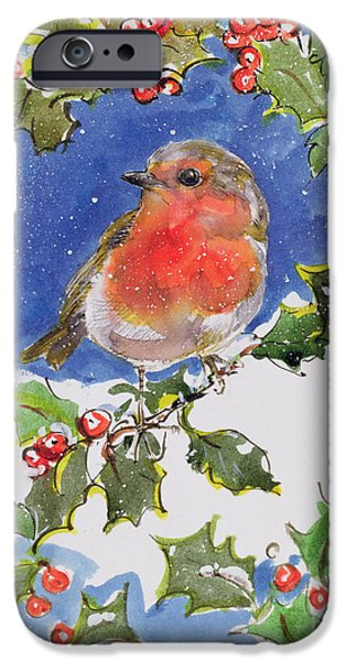Christmas Robin IPhone 6s Case by Diane Matthes
