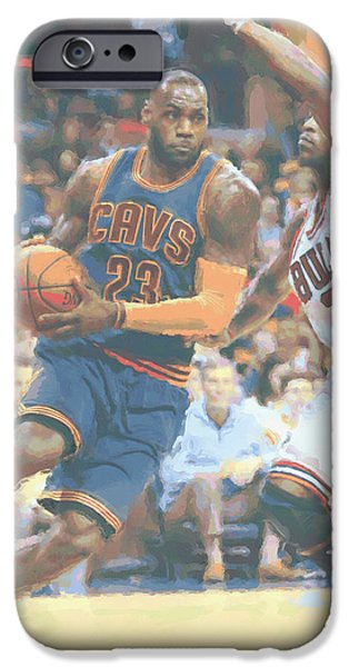 Cleveland Cavaliers Lebron James 2 IPhone 6s Case by Joe Hamilton