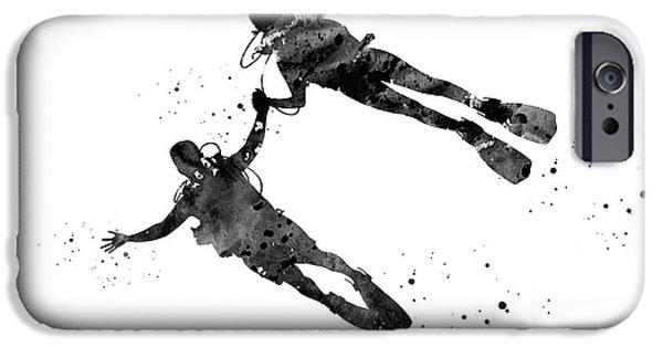 Scuba Diving iPhone 6s Case - Couple Diver, Scuba Diving Adventure by Erzebet S