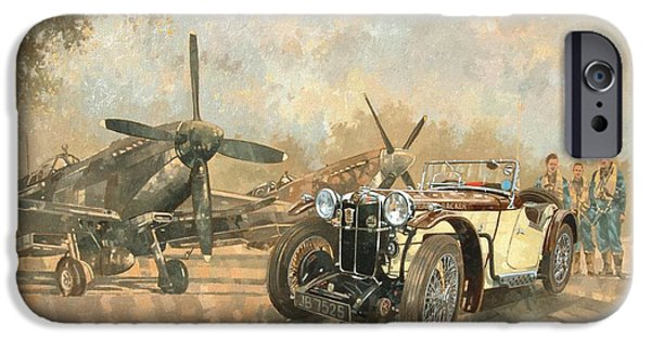 Car iPhone 6s Case - Cream Cracker Mg 4 Spitfires  by Peter Miller