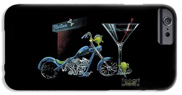 Motorcycle iPhone 6s Case - Custom Martini by Michael Godard