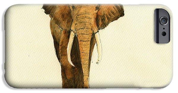 Elephant Watercolor IPhone 6s Case by Juan  Bosco