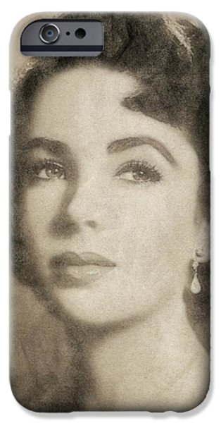 Elizabeth Taylor, Vintage Hollywood Legend By John Springfield IPhone 6s Case