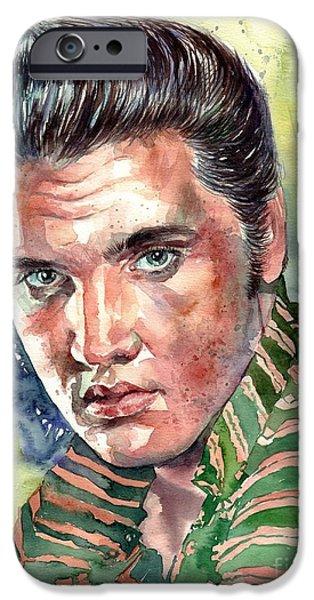 Elvis Presley iPhone 6s Case - Elvis Presley Portrait by Suzann's Art