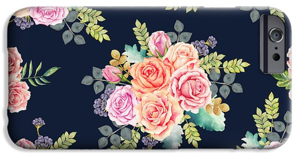 Floral Pattern 1 IPhone 6s Case by Stanley Wong