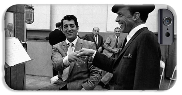 Frank Sinatra And Dean Martin At Capitol Records Studios 1958. IPhone 6s Case by The Titanic Project