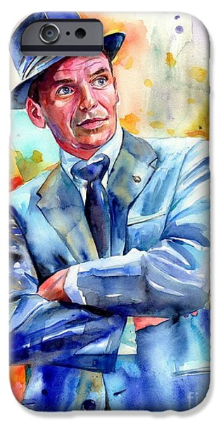 Fairy iPhone 6s Case - Frank Sinatra Young Painting by Suzann's Art