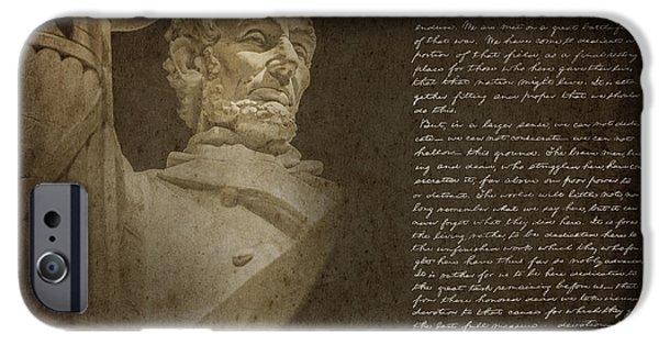 Gettysburg Address IPhone 6s Case by Diane Diederich