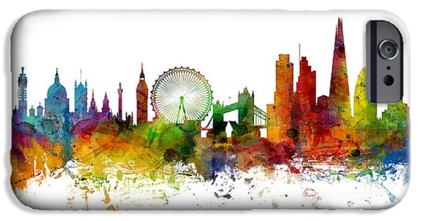 London England Skyline Panoramic IPhone 6s Case by Michael Tompsett