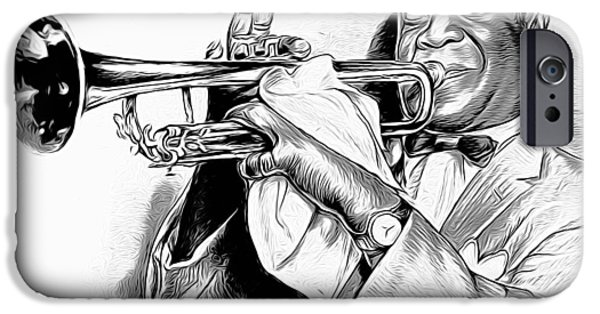 Trumpet iPhone 6s Case - Louis Armstrong by Greg Joens
