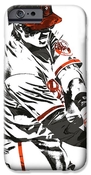 Oriole iPhone 6s Case - Manny Machado Baltimore Orioles Pixel Art by Joe Hamilton