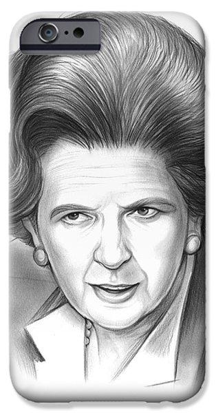 Pencil iPhone 6s Case - Margaret Thatcher by Greg Joens