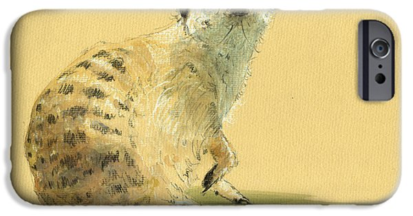 Meerkat Or Suricate Painting IPhone 6s Case