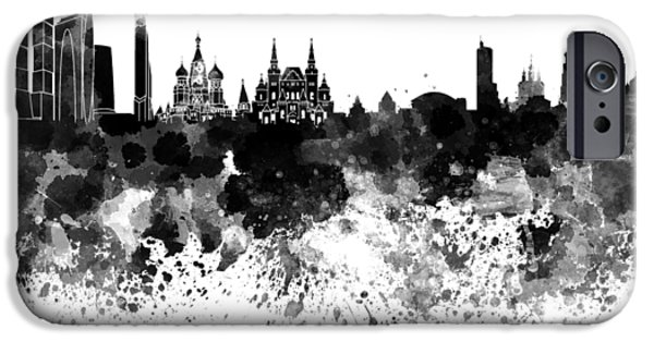 Moscow Skyline White Background IPhone 6s Case