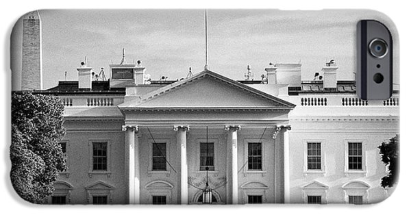 Whitehouse iPhone 6s Case - north facade from pennsylvania avenue the white house with washington monument in the background Was by Joe Fox