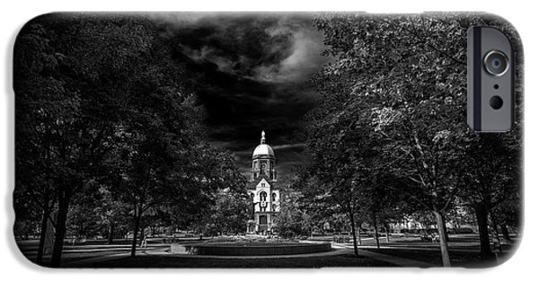 Notre Dame University Black White IPhone 6s Case by David Haskett