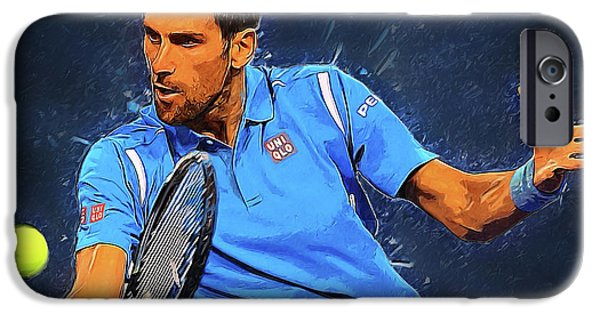 Serena Williams iPhone 6s Case - Novak Djokovic by Semih Yurdabak