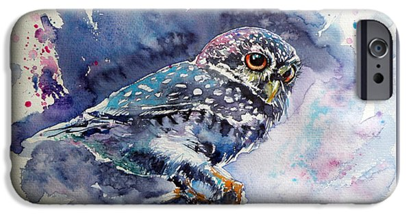 Owl At Night IPhone 6s Case by Kovacs Anna Brigitta