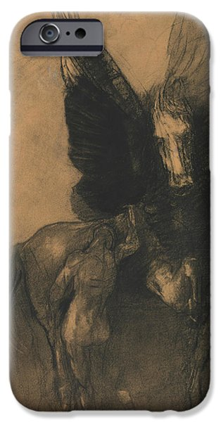 Pegasus And Bellerophon IPhone 6s Case by Odilon Redon