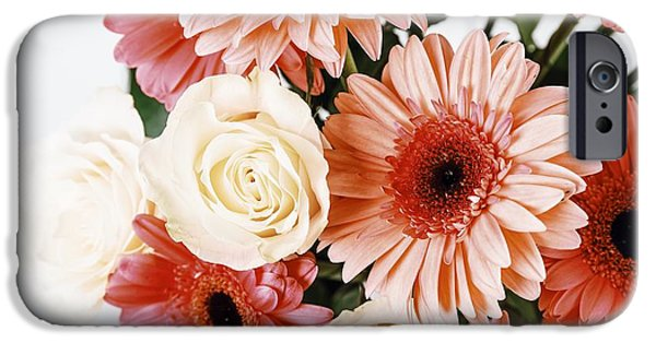 Pink Gerbera Daisy Flowers And White Roses Bouquet IPhone 6s Case by Radu Bercan