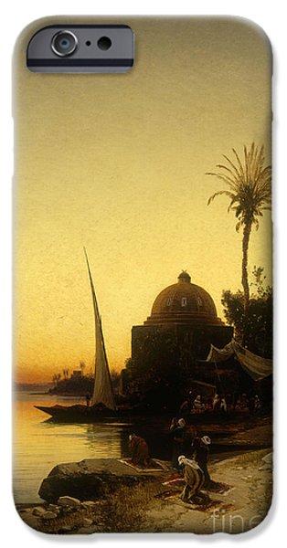 Praying To Mecca IPhone Case by Herman David Salomon Corrodi