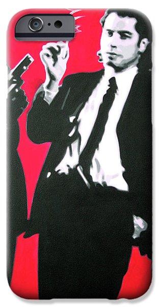 Pulp Fiction IPhone Case by Luis Ludzska