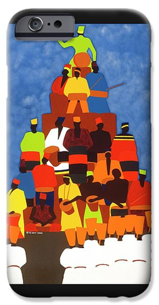 iPhone 6s Case - Pyramid Of African Drummers by Synthia SAINT JAMES