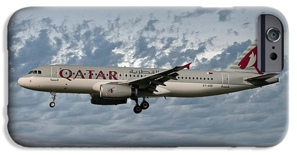 Jet iPhone 6s Case - Qatar Airways Airbus A320-232 by Smart Aviation