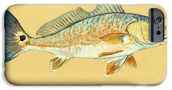Redfish Painting IPhone 6s Case by Juan  Bosco