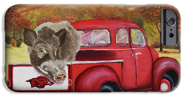 Ridin' With Razorbacks 2 IPhone 6s Case by Belinda Nagy