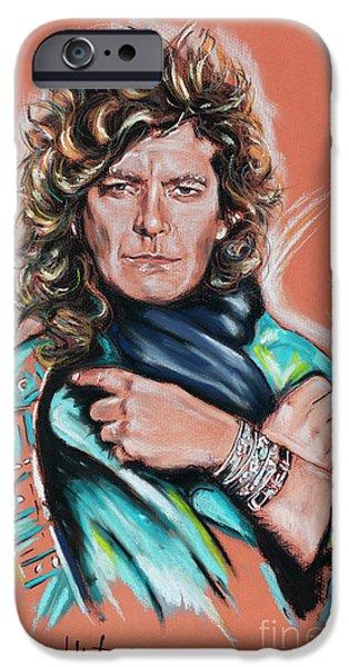 Robert Plant iPhone 6s Case - Robert Plant by Melanie D